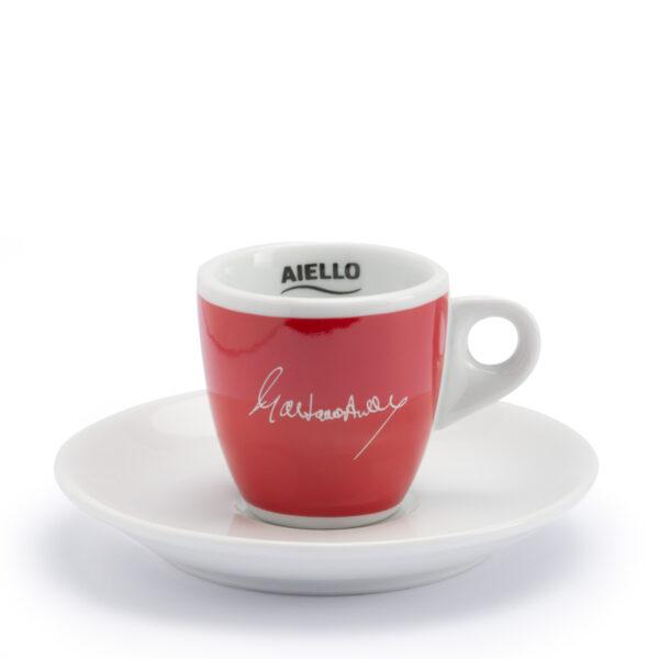 tazzina caffè rossa aiello