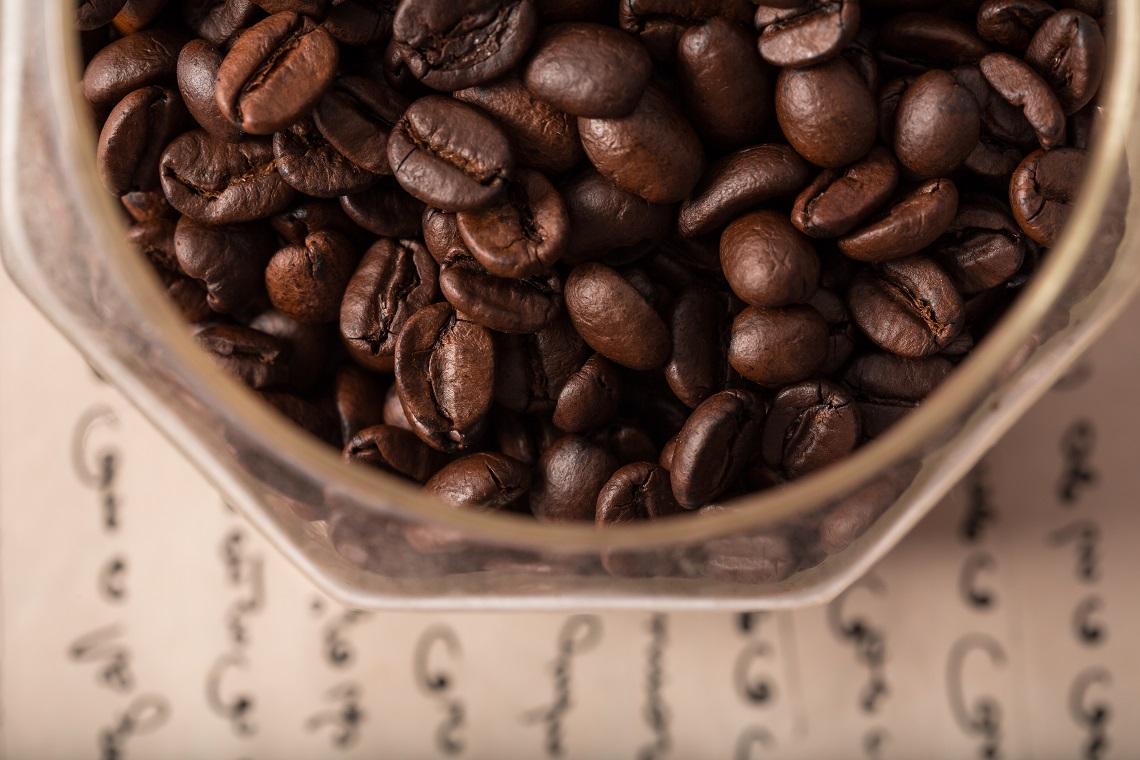 Chicchi di caffè indiano