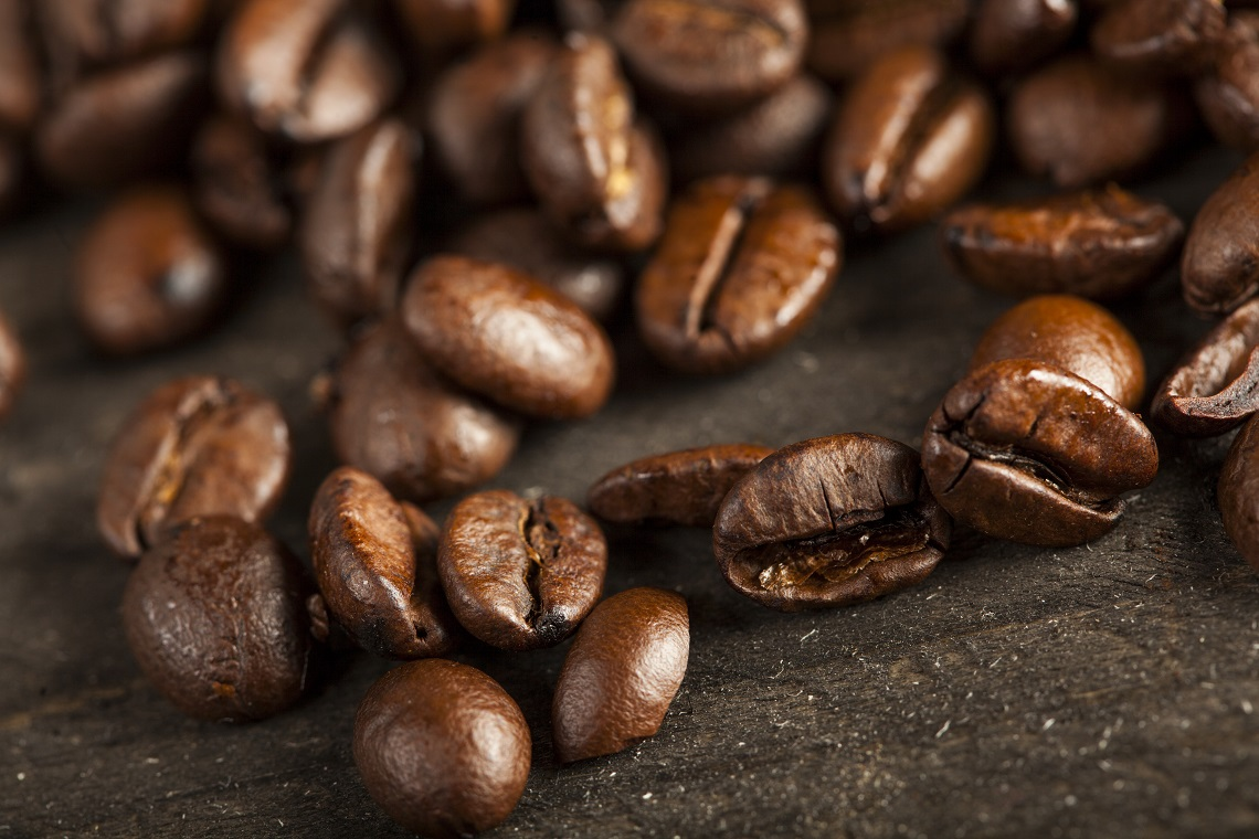 Storia chicchi di caffè