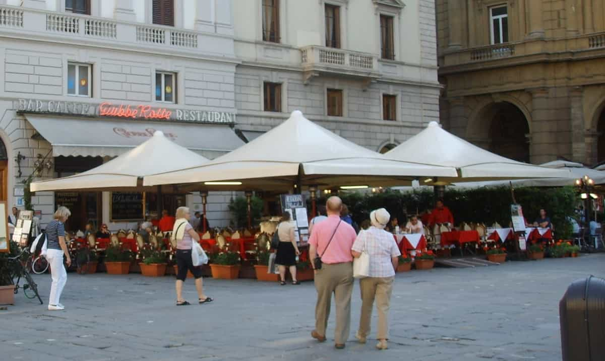 Ancient book cafè Giubbe Rosse in Florence