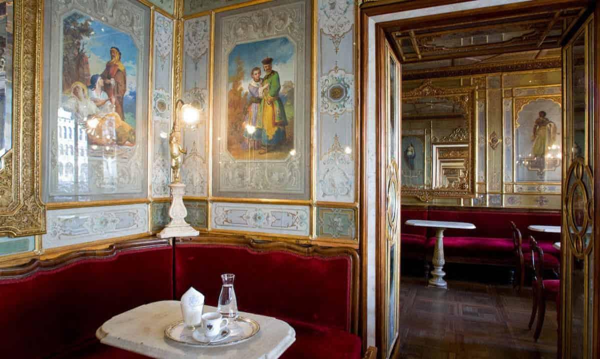 Caffè storico Florian a Venezia
