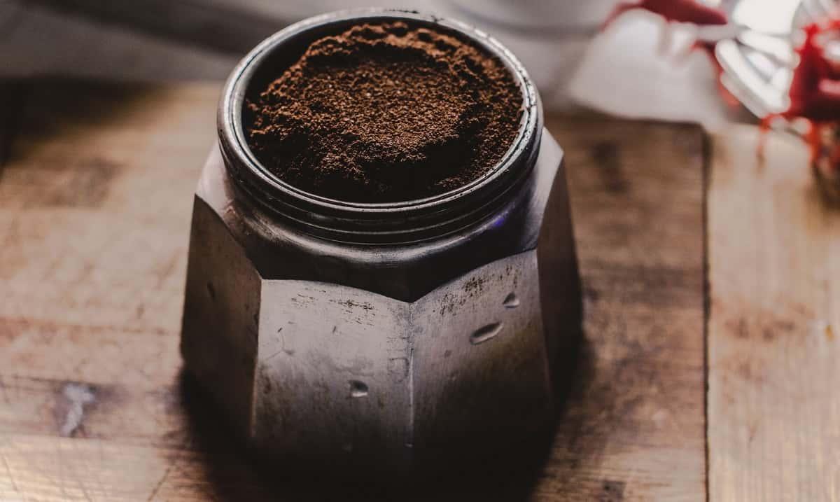 Barley coffee in moka pot