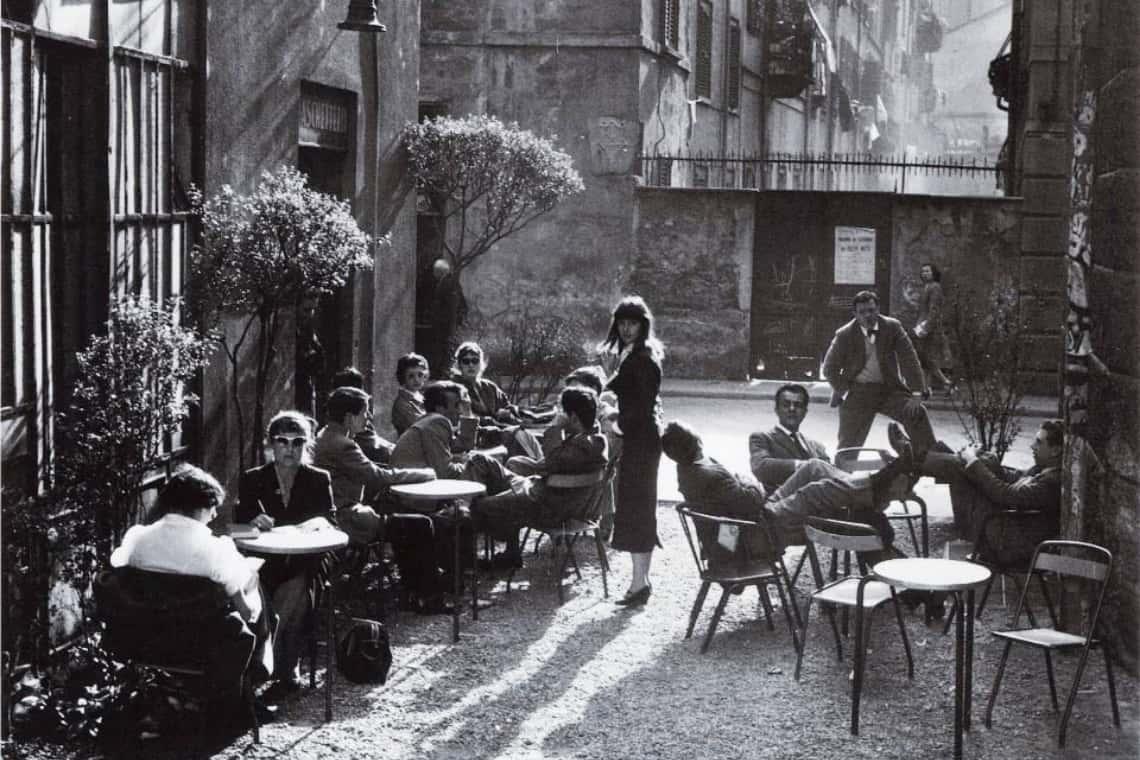 Caffè storico di Milano in zona Brera
