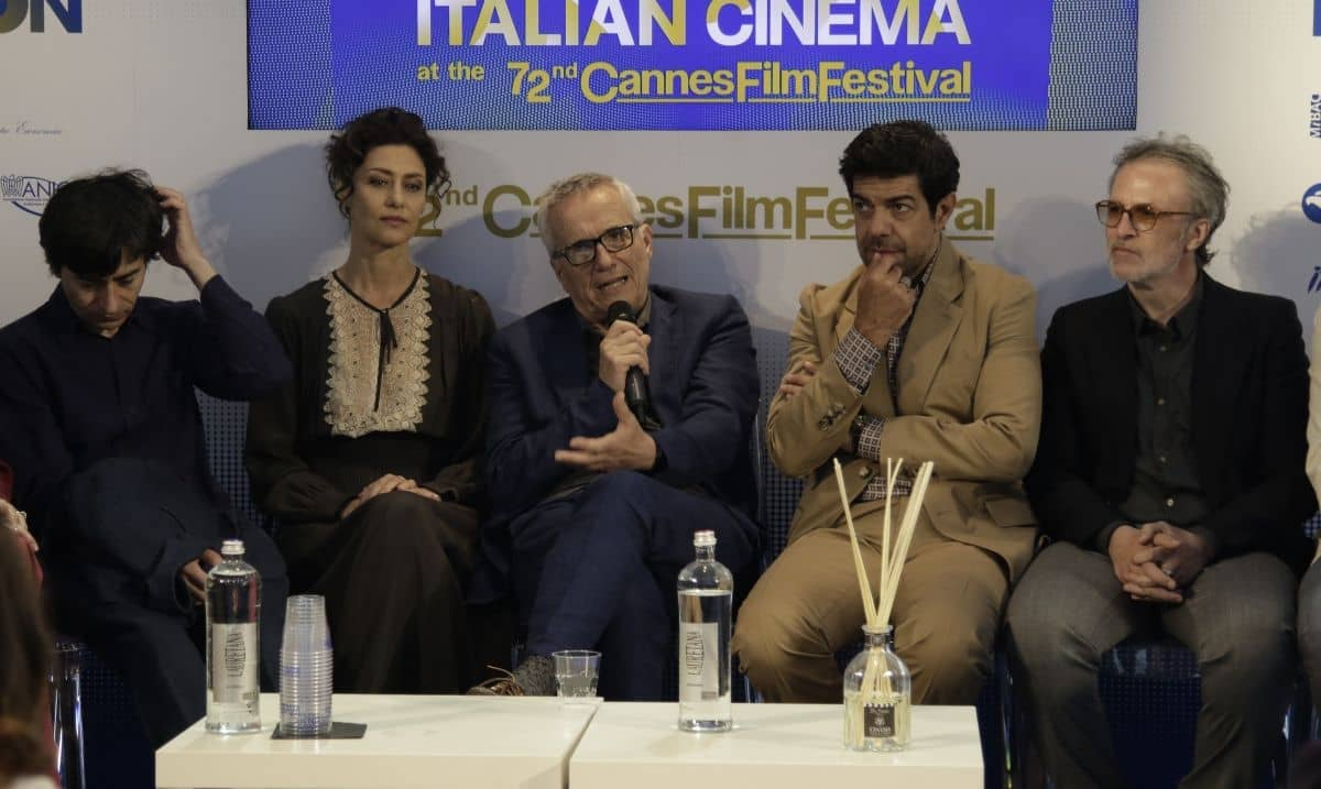 """Marco Bellocchio e il cast de """"Il Traditore"""" al Festival di Cannes 2019"""