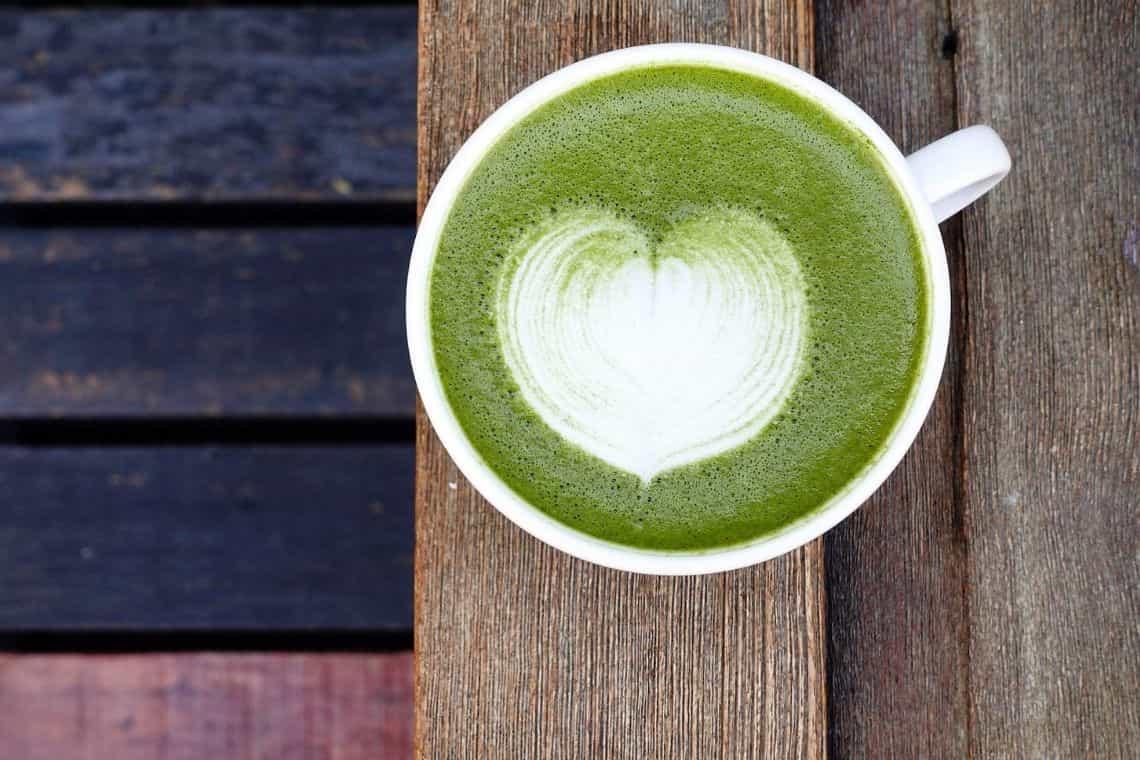 Cappuccino matcha latte