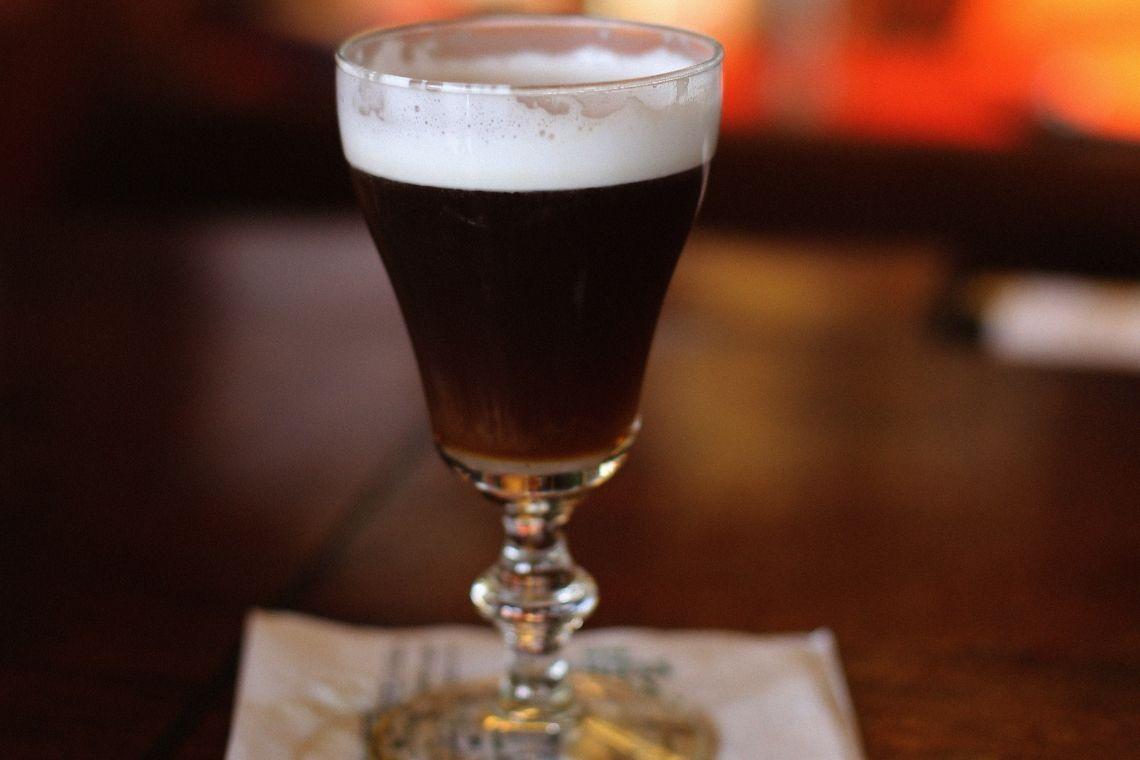 bicchiere di Irish coffee