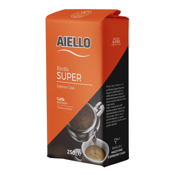italian ground coffee super espresso home aiello
