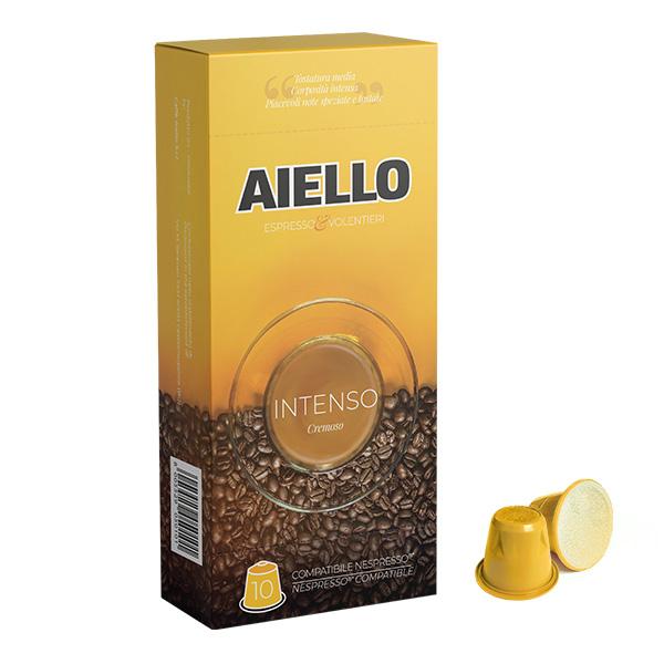 intenso italian coffee nespresso compatible capsules aiello