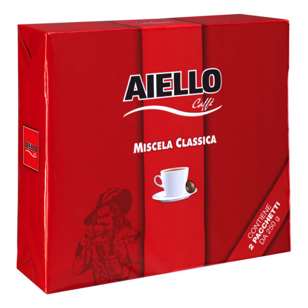 italian ground coffee classica bipack aiello