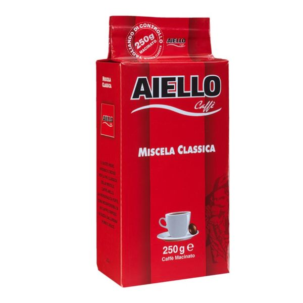 italian ground coffee miscela classica aiello