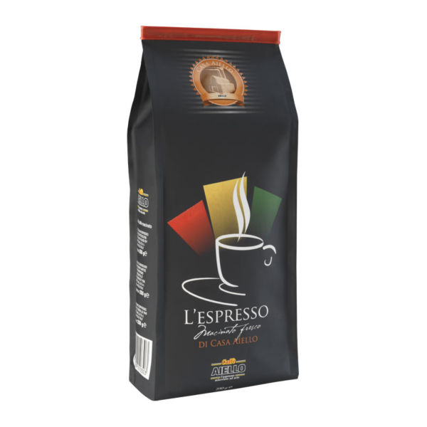 italian ground coffee espresso macinato fresco aiello
