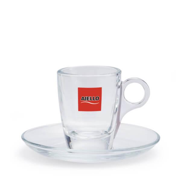 tazzina caffè vetro aiello