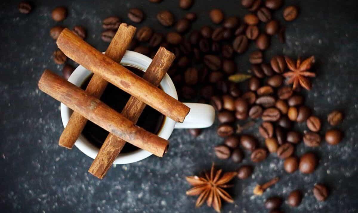 caffè gourmet con cannella e zenzero