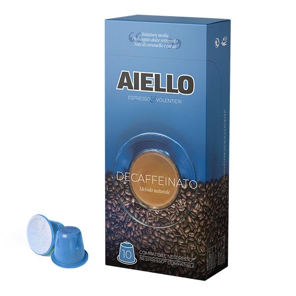 capsule compatibili nespresso caffè decaffeinato aiello