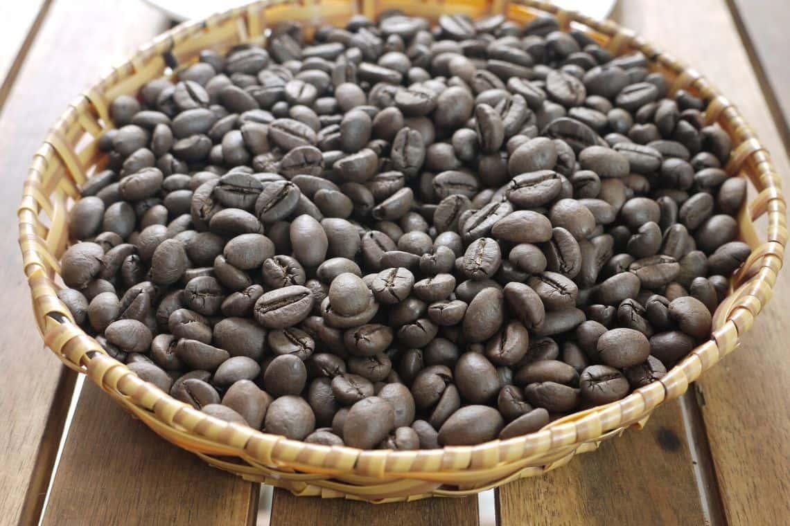 chicchi di caffè robusta o Coffea Canephora