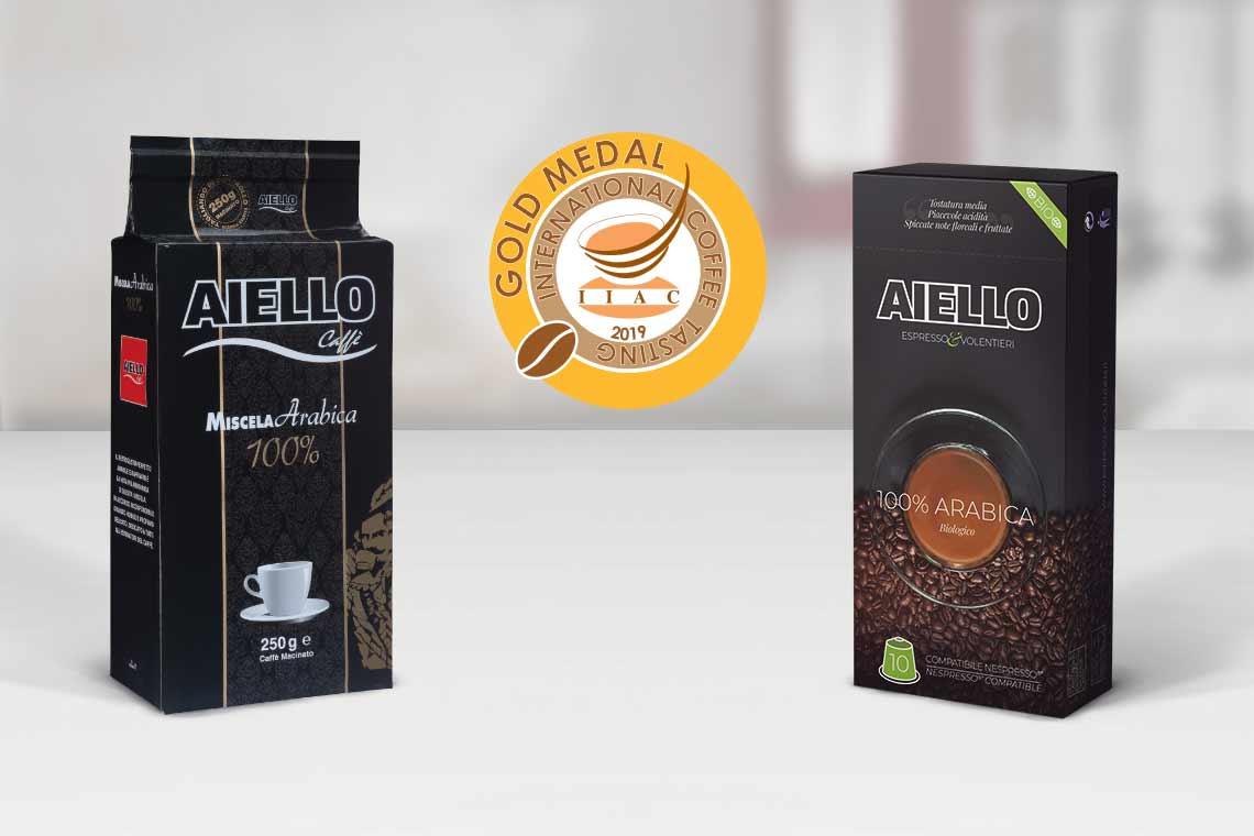 International Coffee Tasting 2019, miscele Caffè Aiello premiate con la medaglia d'oro