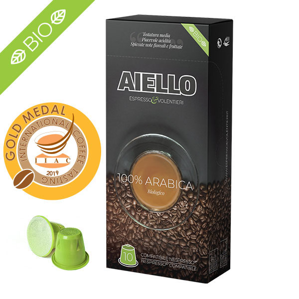 arabica italian coffee nespresso compatible capsules aiello