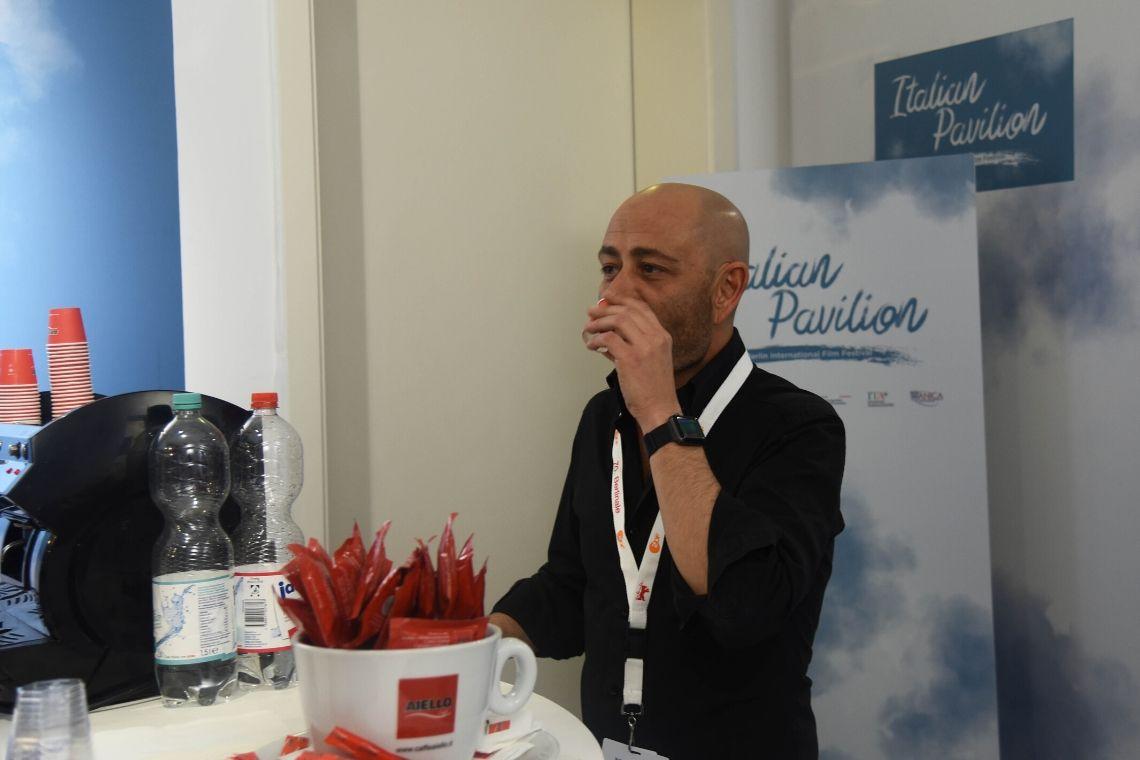 Berlinale 2020, pausa caffè con le cialde Caffè Aiello