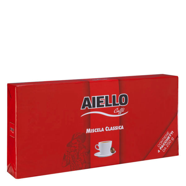 italian ground coffee classica quadripack aiello