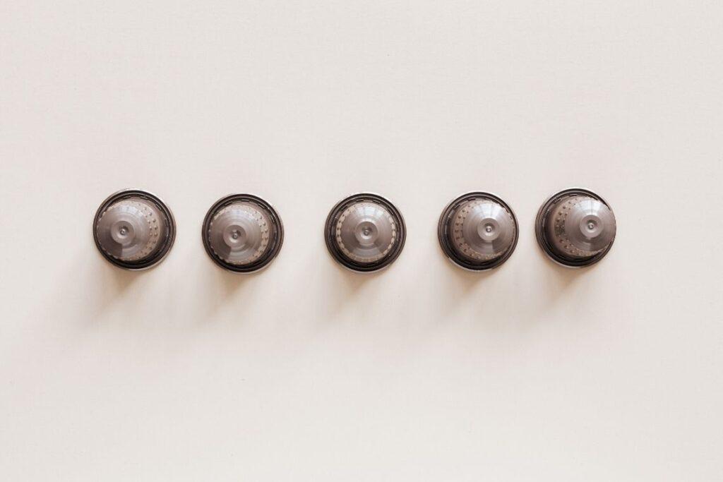 capsule del caffè per creare una collana homemade