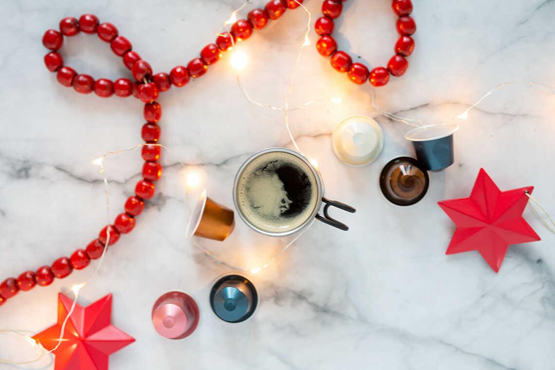 decorazioni natalizie con capsule Nespresso