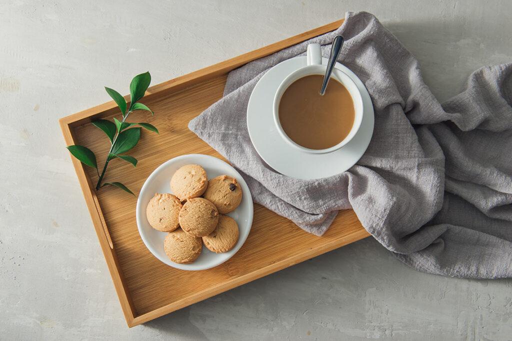 biscotti al caffè con mandorle e vaniglia