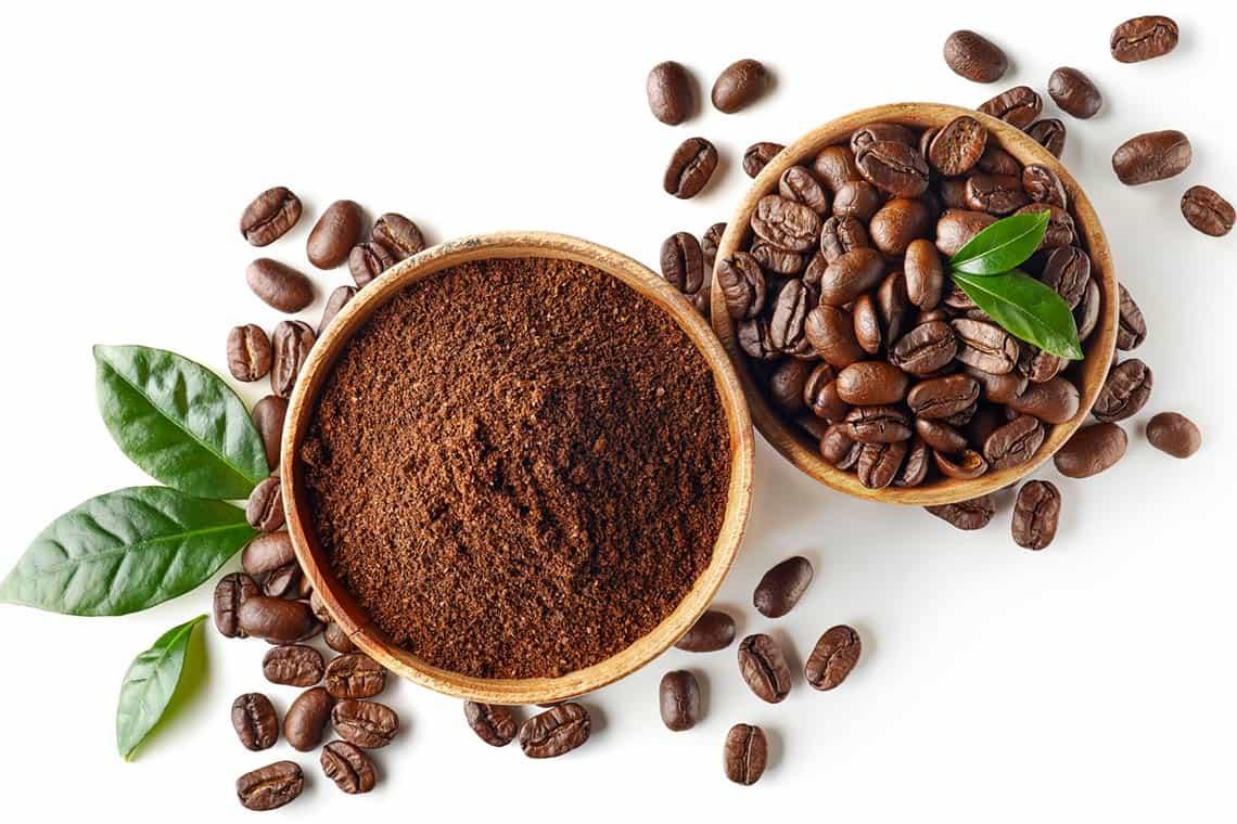 caffè macinato in polvere