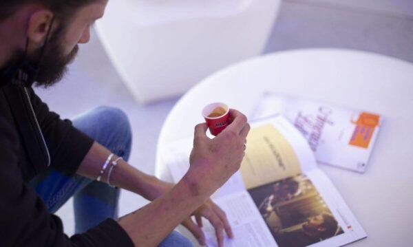 momento di pausa con Caffè Aiello al Festival del Cinema di Venezia 2021
